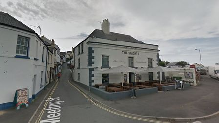 The incident took place outside The Seagate in Appledore. Picture: Google