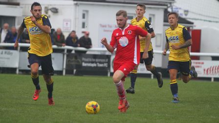 Barnstaple Town v Moneyfields in BetVictor Division One South. Picture: Matt Smart