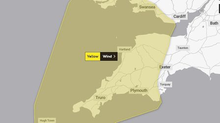 The Met Office has issued a yellow warning in anticipation of Storm Lorenzo. Picture: The Met Office