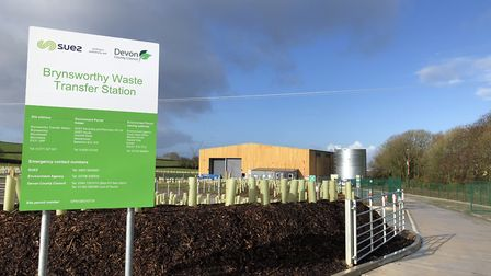 The new waste transfer station at Brynsworthy. Picture: Matt Smart