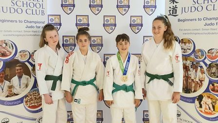 The Kingsley School Judo Club team representing England at the Commonwealth Judo Championships.
