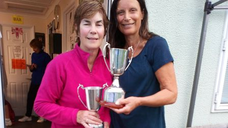 Jenny Doig and Cath Andrews won the Di Govier Tournament at Atlantic Racquet Centre.
