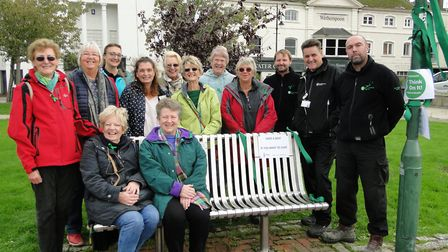 Soroptimists are joined by Environment Agency staff to launch the newly designated 'stop and chat' b