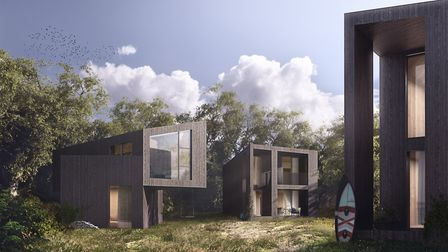 The proposed designs have been revealed for the new Tree House and Falcon 'eco home' models at the n