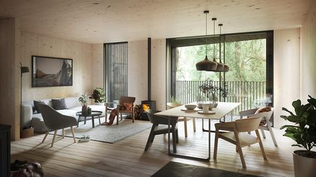 How the new Tree HOuse home design could look inside. Picture: Koto/Habitat First Group