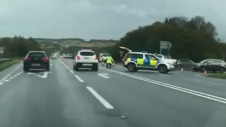 Police are closing the A361 at Knowstone in the Barnstaple direction following a multi-vehicle colli