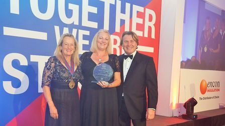 Pippa Latham, Master of the Worshipful Company of Builders Merchants, which sponsored the award, Jan