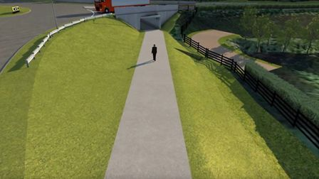 How the Bishops Tawton underpass could appear. Picture: DCC