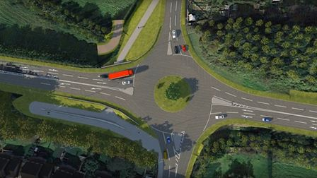 The Bishops Tawton roundabout plans as part of the Link Road upgrade look set to include an underpas