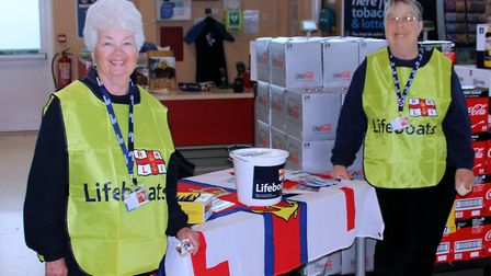 Ilfracombe RNLI fundraisers on duty. Picture: Neil Perrin