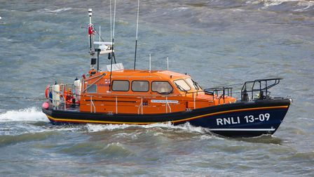 Ilfracombe RNLI all-weather lifeboat The Barry and Peggy High Foundation. Picture: Neil Perrin