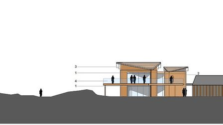 How the new Northam Burrows centre is proposed to look.