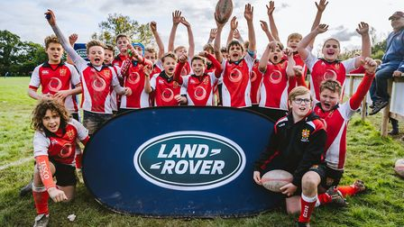 Barnstaple U12s at the Land Rover Premiership Rugby Cup.