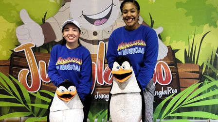 The penguins from Madagascar the Musical were at JunglaRoo at Funderzone in Barnstaple to promote th