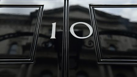The front door of number 10 Downing Street in London. PA Photo. Picture date: Tuesday October 29, 20