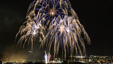The spectacular fireworks display at Barnstaple Rugby Club. Picture: Rob Bates
