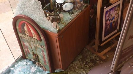 The damage caused by the burglary at The Shop Eclectic In Queen Street, Barnstaple. Picture: Eclecti