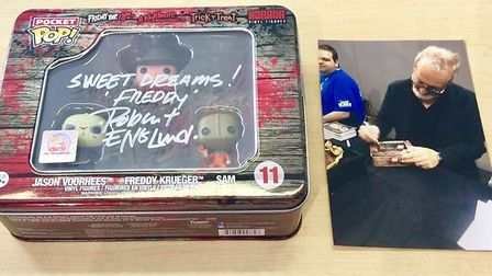 Stolen from The Shop Eclectic: Pocket Pop Tin signed by Robert Englund (Freddy Krueger). Picture: Ec