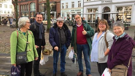 Some of the Barnstaple Twinning Association members pictured in Uelzen in Germany.