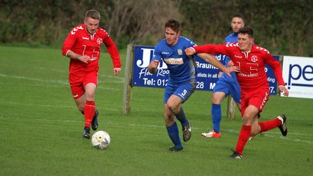 Braunton v Budleigh Salterton in the Devon Football League North and East Division. Picture: Matt Sm