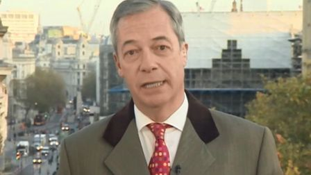 Nigel Farage answers questions on BBC Breakfast. Photograph: BBC.