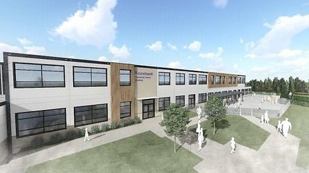 An artists impression of the new primary school at Roundswell.
