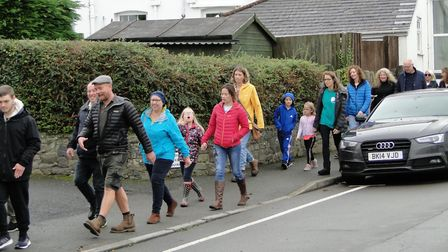 The Hopewalk in Braunton that helped launch the new Ask for Jake charity. Picture: Tony Gussin