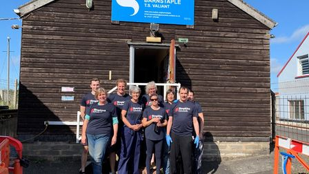 The team of Simpkins Edwards Barnstaple staff who helped redecorate the Sea Cadets HQ TS Valiant at
