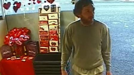 A CCTV still of Alexander Lewis-Ranwell visiting a nearby McColls.