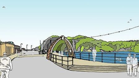 An artist impression of how the revamped Ilfracombe Quay will look. Picture: Peregrine Mears Archite