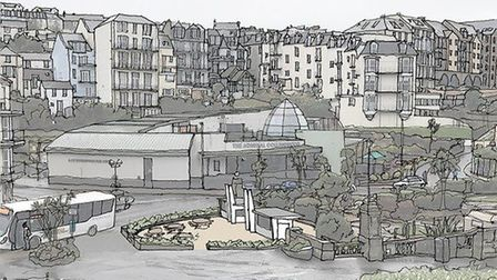 An artist impression of how the revamped Victoria Pleasure Gardens will look. Picture: Peregrine Mea