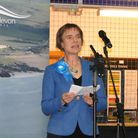 Selaine Saxby making her acceptance speech in Barnstaple on General Election night after being chose