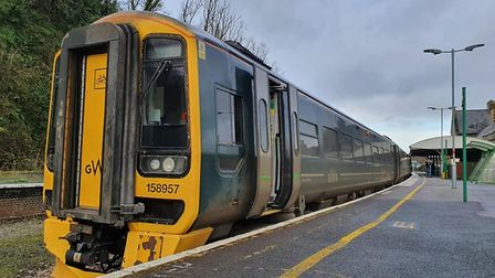 One of the new Class 158 trains on the Tarka Line at Barnstaple Statio. Picture: David Green