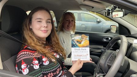 Learner driver Alex McNeill has been learning about safe driving with Deborah Morphew. Picture: Matt