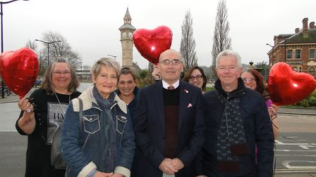 Mayor Alan Rennles, town council staff and charity representatives are urging people to join them at