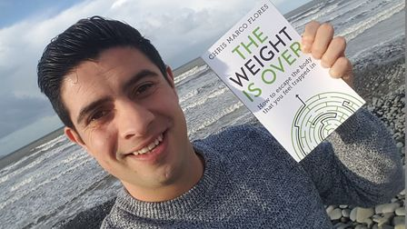 Bideford trainer Chris Marco Flores with his new book The Weight is Over.