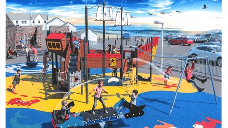 The design for the new pirate ship play feature for Churchfields Play Park at Appledore. Picture: Ko