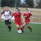 Bideford Ladies v Portishead Ladies in the South West Regional Women's Football League Premier. Pict