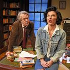 Stephen Tompkinson as Frank and Jessica Johnson as Rita in Educating Rita. Picture: Nobby Clark
