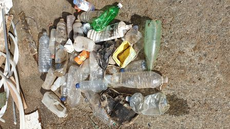 Some of the plastic items cleaned up at Saunton. Picture: Plastic Free North Devon