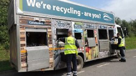 North Devon residents have been asked to separate their glass recycling waste into a separate contai