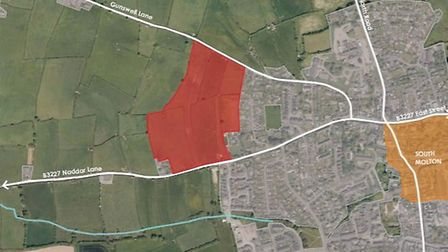 The proposals would see homes built on a site on the western edge of South Molton.