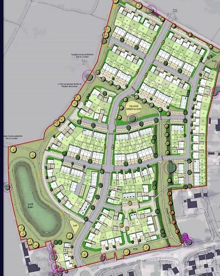 The development is proposing 187 new homes in South Molton.
