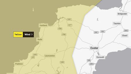 The weather warning for Monday, May 4. Picture: Met Office