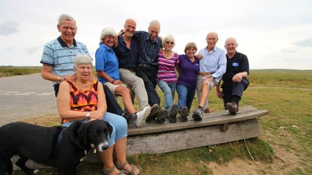 Ivan Huxtable with participants on one of his legendary Exmoor Rambles.