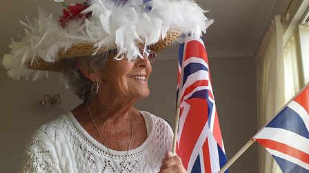 Doreen Neate dressed up to mark the 75th anniversary of VE Day with a social distancing street party