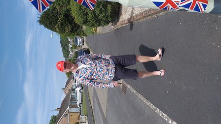 Celebrating the 75th anniversary of VE Day in Braunton with a social distancing street party. Pictur