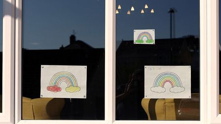 Local children have been sending in rainbow pictures for the windows of Park Lane Nursing Home in Ba