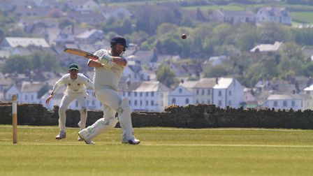 Dan Bowser batting for North Devon against Bovey Tracey in May 2019. Picture: Matt Smart
