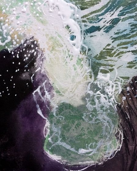 Surging tide, acrylic on board, by Mark Rochester. Picture: Mark Rochester
